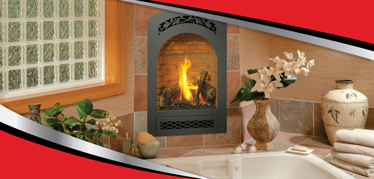 Waconia Comfort Fireplace in Bathroom